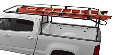 medium-duty pro III pick up truck cargo racks HIGH-STRENGTH RAILS FORM SAFETY GRAB HANDLES HIGH-STRENGTH SIDE CHANNEL REINFORCEMENT SMOOTH ROUND TUBING COMPONENTS REDUCE WIND