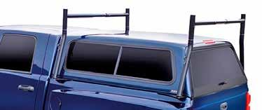 additional truck racks R A C K F O R T R U C K S W I T H S H E L L MEDIUM-DUTY ECONO CARGO & LADDER RACK Fits All Trucks With Cab High Shells Part #000 mounts on truck bed rail, features sturdy