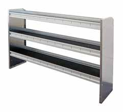 The individual shelves of each Kargo Master shelving unit can be adjusted to differing heights depending on each unique shelving need.