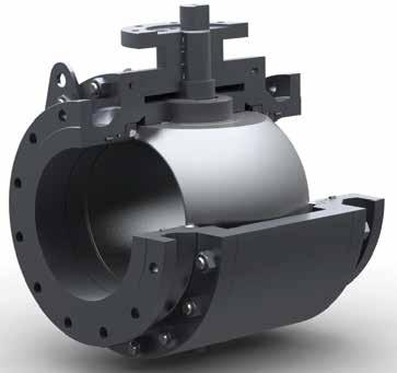 T60S Series Soft Seated 3-Piece Body Trunnion Mounted Ball Valves (Patent Pending) DESIGN STANDARDS - Basic design: API 6D/ISO 14313 - F F dimensions: API 6D/ASME B16.10 - End connection: ASME B16.