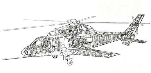 He also created isometric cutaway drawings of Sikorsky helicopters.