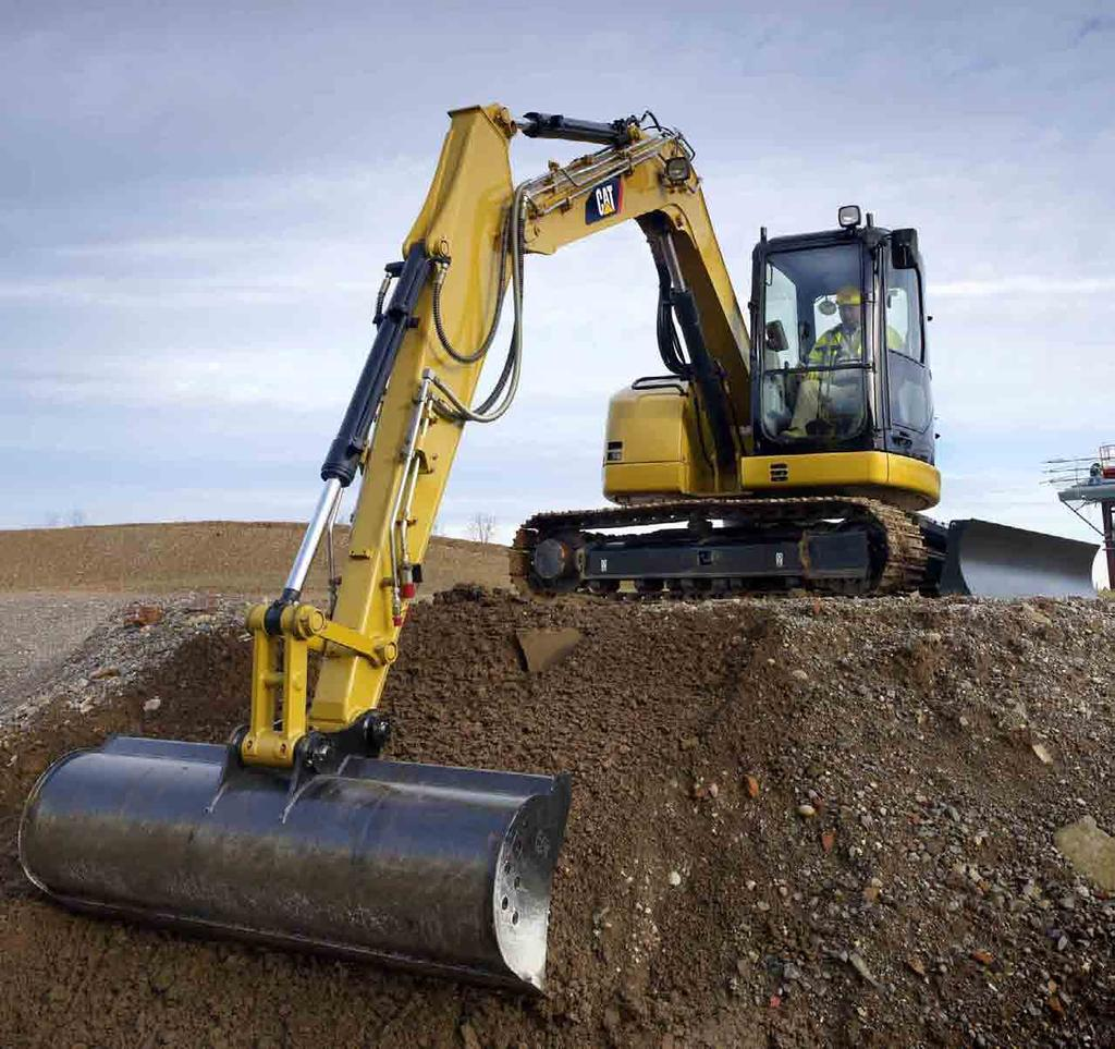 308D CR Mini Hydraulic Excavator with Fixed Boom Engine Power Net power