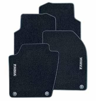Prestige textile floor mats with red trim Four-part set (6V2 061 404B) Prestige textile floor mats