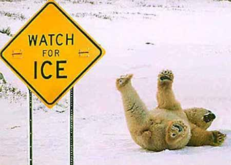 24 ICE Ice on Bridges: Bridge roadways tend to freeze before other roadways surfaces. Cold air circulates above and below the roadway on bridges and overpasses. Black ice This forms in thin sheets.