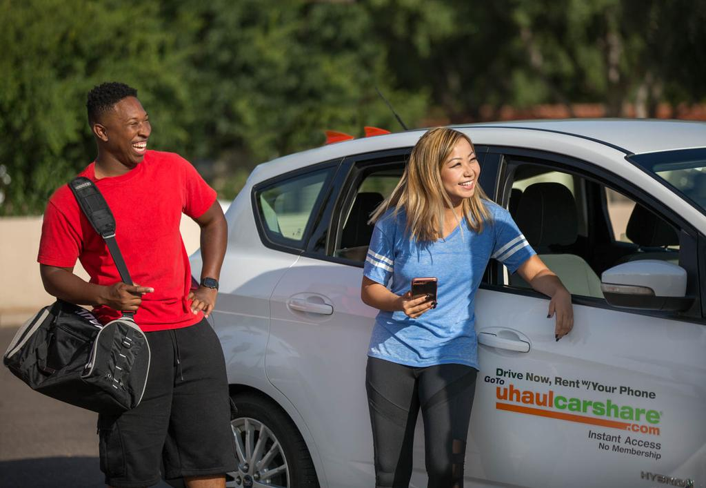 No Membership Fees: Everyone is a Member No membership fee or wait time for membership approval like car share programs. The largest car share company in the U.S. has 1 million members.