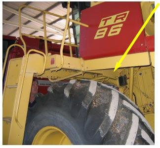 Installation Mount the PRO STEER above the wheel on the left hand side of the combine harvester.