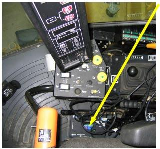 Mount PRO STEER ECU on the floor to the right