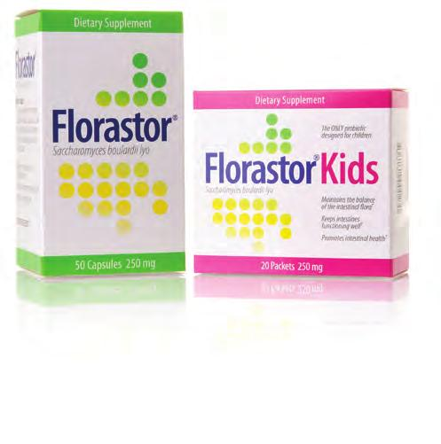 Digestive Health / Probiotics & Immunity 4 Florastor Probiotics enable the good organisms in