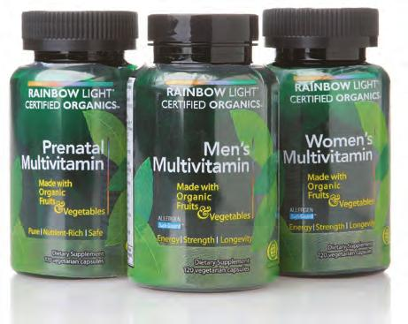 9 Multivitamins & Minerals Rainbow Light Rainbow Light s NEW Certified Organics line of products are digestion-enhanced with enzymes, botanicals, prebiotics and probiotics and deliver therapeutic,