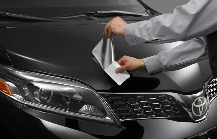 Paint protection film is available for select areas of the hood/fenders and front bumper (each