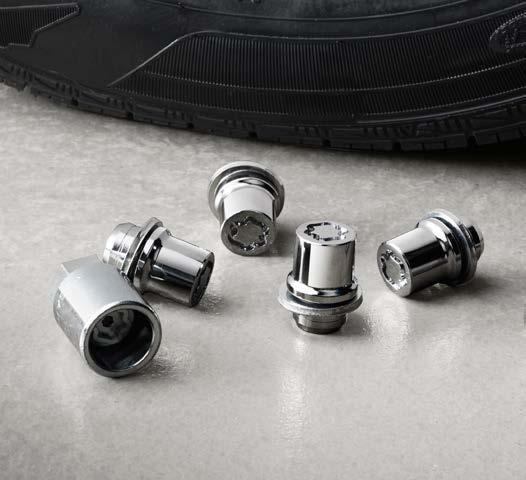 weight-balanced alloy wheel locks help secure your wheels and tires against theft.
