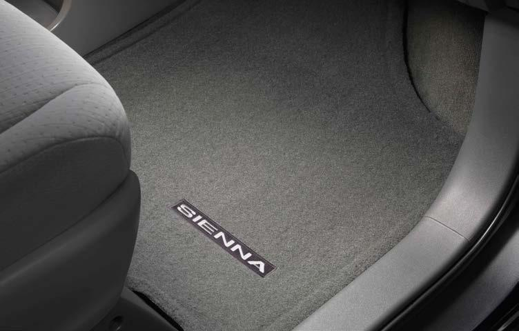 carpet floor mats accommodate Sienna seating configurations Color