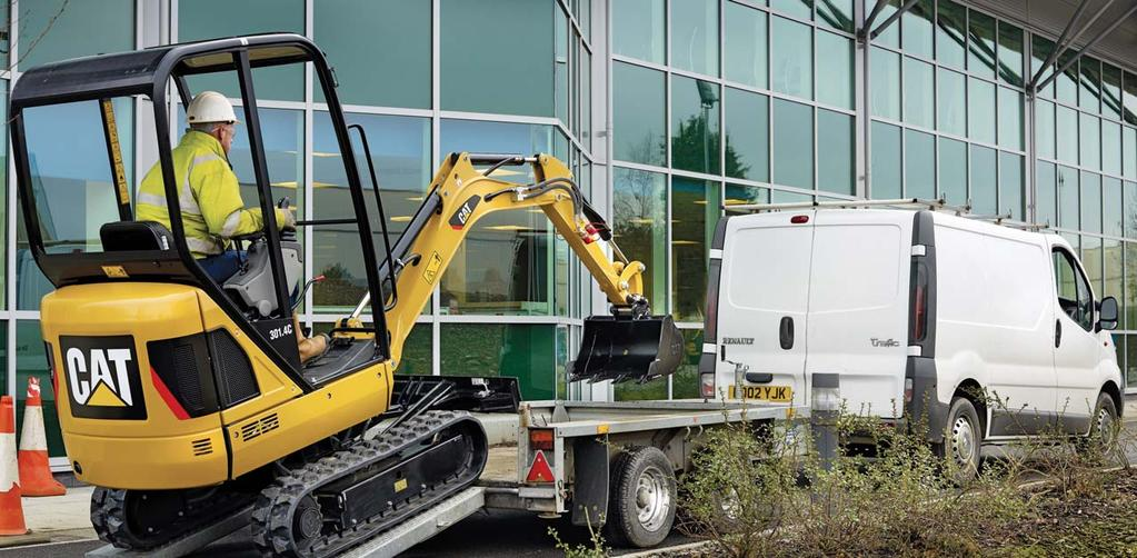 Versatility Easy to transport and greater site access Easy Transportation Compact in size and weighing just