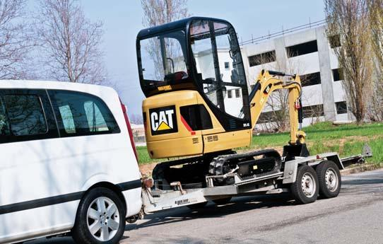 4C is easy to transport on a conventional trailer behind a pick up truck or transit van.