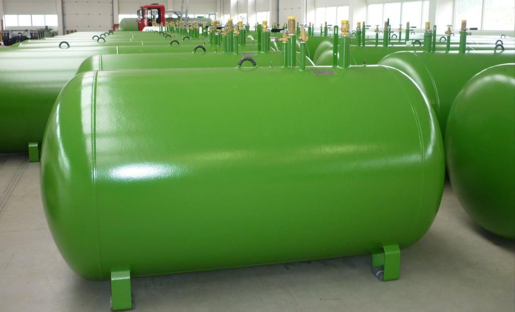 LPG STORAGE TANKS - UNDERGROUND Ø 1250mm Materials Bottom: thickness 5,7mm,