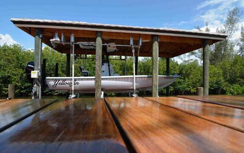 Antigua Single Drive Boat House Lift