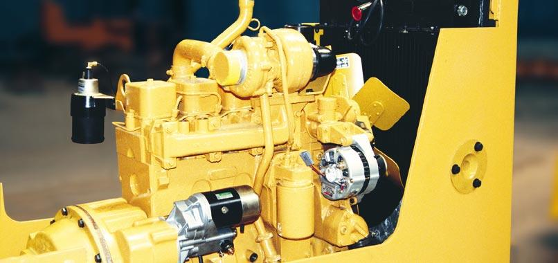 ENGINE AND TORQUE CONVERTER Komatsu S4D102E-1 Engine This turbocharged 239 in 3 engine delivers 67 kw 90 HP @ 2200 rpm.