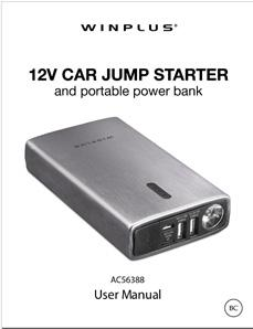PACKAGE CONTENTS: Power Bank Storage Case USB Cable and Car
