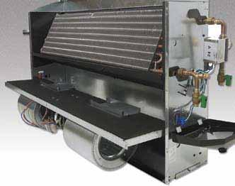 Fan Deck The fan/drain pan assembly is easily removable for service access to motors and blowers at, or away from, the unit.