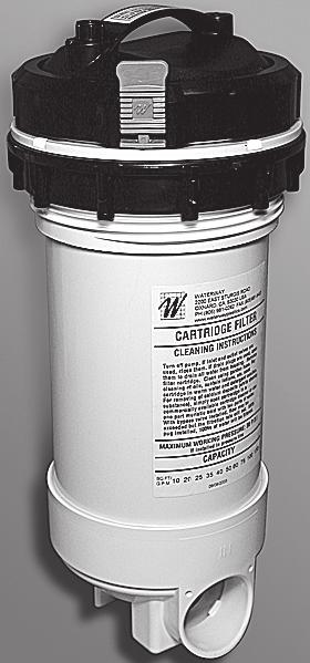 "Spa Skimmers and Filters / Top-Load Filters 7.5"" 5.45"" 18"" 12.55"" 2.76"" 500-2500 6"" For replacement parts, see page 261. 1 1/2"" and 2"" Top-Load Filters Part No."