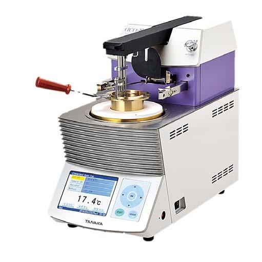 Tanaka aco-8as Cleveland Open Cup Flash Point Tester The aco-8as is an automated ASTM D92 Cleveland Open Cup (COC) flash and fire point tester designed specifically with features for testing bitumous