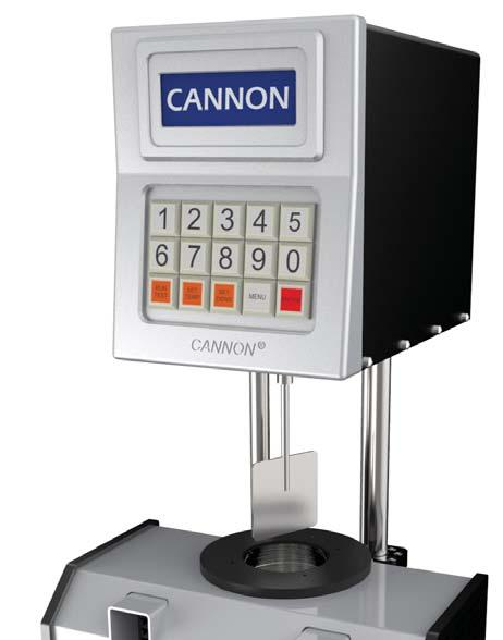 Rotational Viscosity & Rheology Rotational Digital Paddle Viscometers CANNON s rotational digital paddle viscometers provide an automated alternative to the dated, labor-intensive Saybolt method
