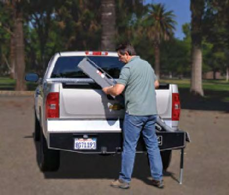 Replacing the vehicle s existing bumper, the Fold-A-Way Bumper Crane remains out of your way when not in use.