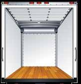 FRP Body: Provides a seamless, rivet-free exterior and interior with maximum cubic feet of storage.