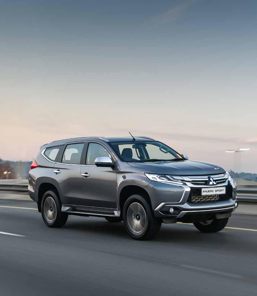 AGILE & MANOEUVRABLE The Pajero Sport s innovative design and exceptional manoeuvrability makes for an effortless driving experience that s equivalent to