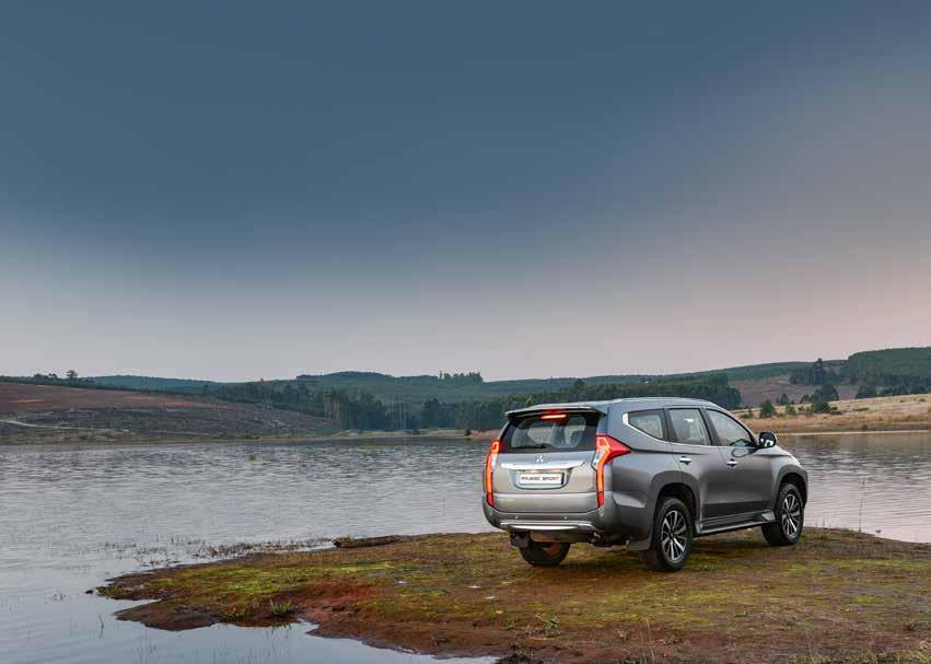 COMPLETE PEACE-OF-MIND NO COMPROMISE ON COMFORT Alongside Mitsubishi s proven RISE (Reinforced Impact Safety Evolution) body structure, the Pajero Sport comes with a