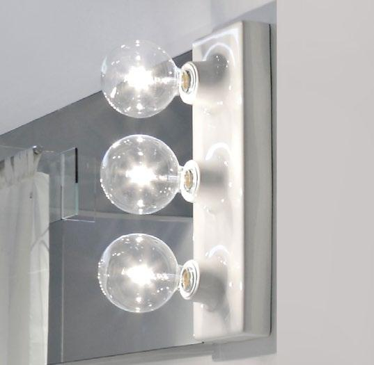MKLP Ceramic wall lamp (BULBS NOT INCLUDED) Make-Up mirrors (MKS100 - MKS50 - MKS501) Package dim. 55 x 22 x 17 cm Weight 5 kg Pz.