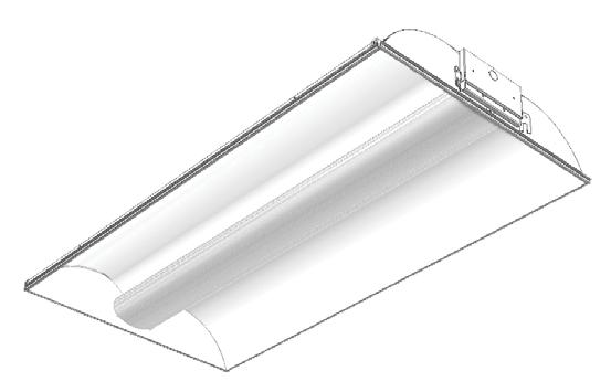 Type 'VFA' HP90 Recessed 2'X4' Fluorescent; T8, T5 and T5HO