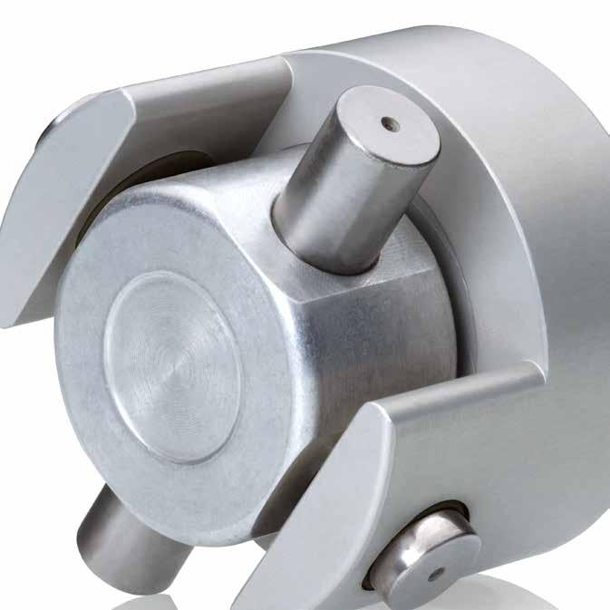 Introduction Loewe GK The axially-stiff coupling Axially fixed Anodised clamp hubs Use of high-performance plain bearings The coupling with high axial stiffness The Loewe GK is an axially stiff
