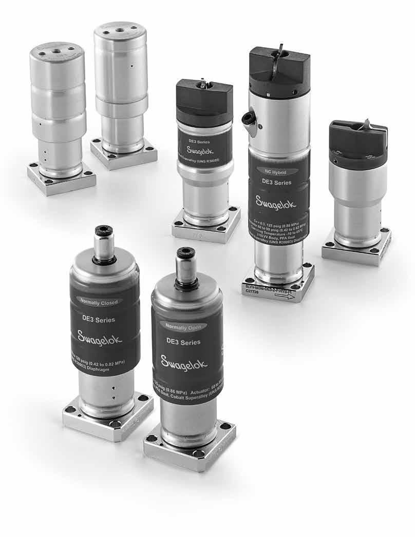 Springless Diaphragm Valves ( in.) DE Series 1 www.swagelok.com Springless Diaphragm Valves ( in.) For Modular Gas Systems DE Series in.