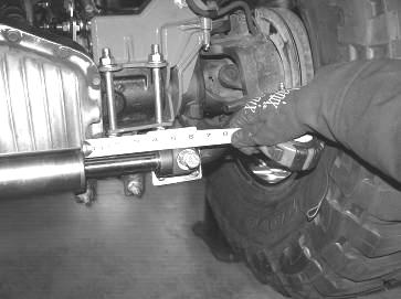 7. Remove the stabilizer from the tie rod end