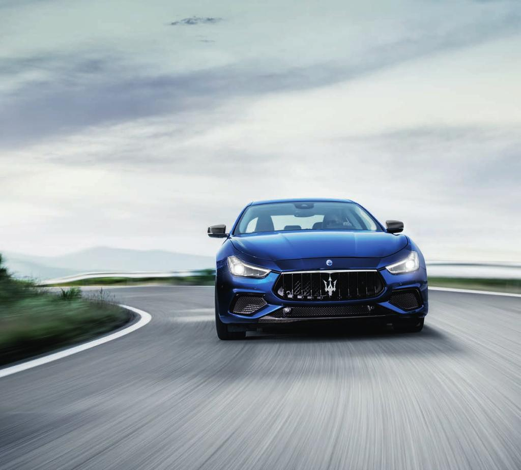 I N T E L L I G E N C E S Y S T E M MASTERFUL DYNAMICS The long road ahead, with its twists, turns and occasional surprises, is there for the taking in the Maserati Ghibli thanks to a host of