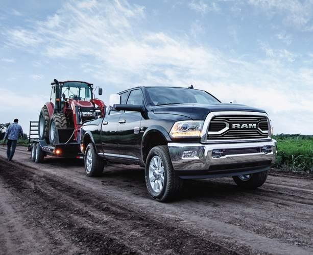 14 RAM HD NEVER BACKS DOWN. 3500: 31,210-LB DIESEL TOWING * 3 3500: 930 LB-FT DIESEL TORQUE TRAILER-TOWING MIRRORS.