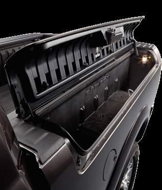 21 ADD ON STORAGE THE RAMBOX SYSTEM SIDE CARGO BINS are lockable, illuminated and feature drain plugs that enable refrigeration by ice.