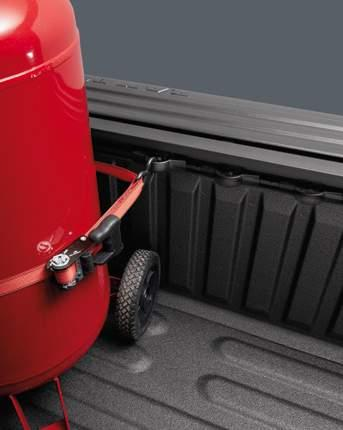 Extend it over the open tailgate to enclose larger cargo.