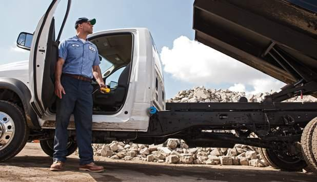 Put massive capability at your service. The robust Ram 4500 Chassis Cab measures up, with up to 33,500 lb of ready-to-work GCWR. + UNSURPASSED 11 GAS- AND DIESEL-POWERED MAX GVWR*: RAM 4500. The 6.