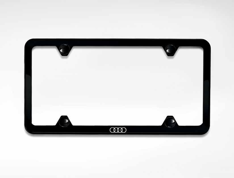 1. Audi Sport license plate frames 1 This attractive frame is constructed of highly durable materials.