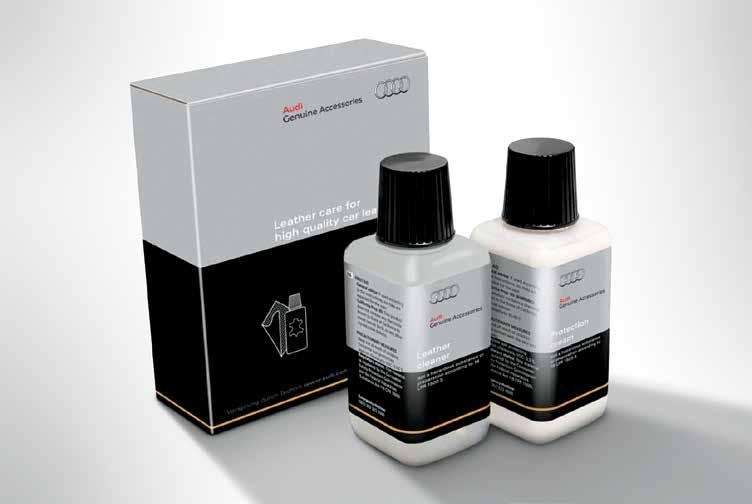 Kit includes leather cleaner bottle, protection cream bottle (each 5.3 oz.