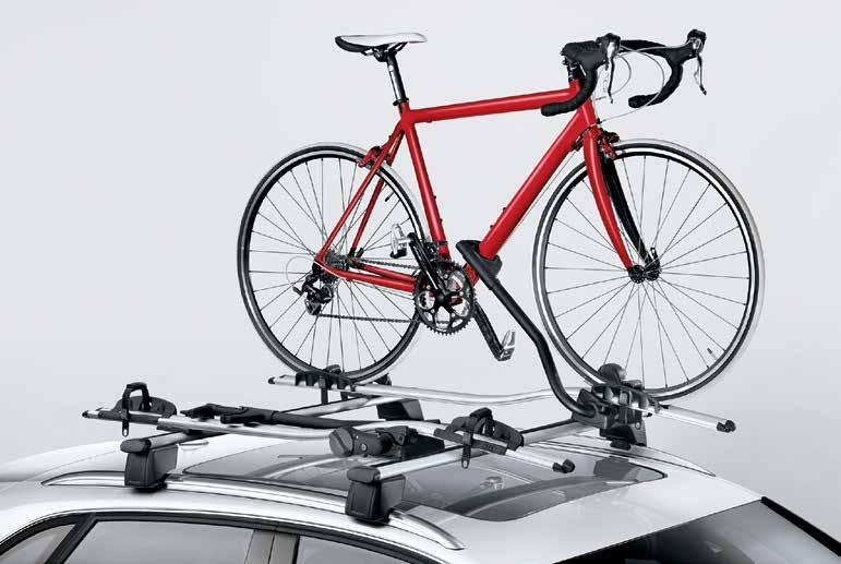 included lock. 3. Aluminum bike rack 1 Help protect your other ride.