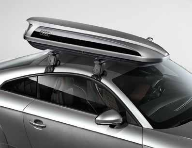 "TravelSpace Transport Ski and luggage carrier 1 Ride in comfort when luggage and sports equipment are stowed in this stylish, aerodynamic carrier. Size: 83"" long, 34"" wide, 15"" high. 14."