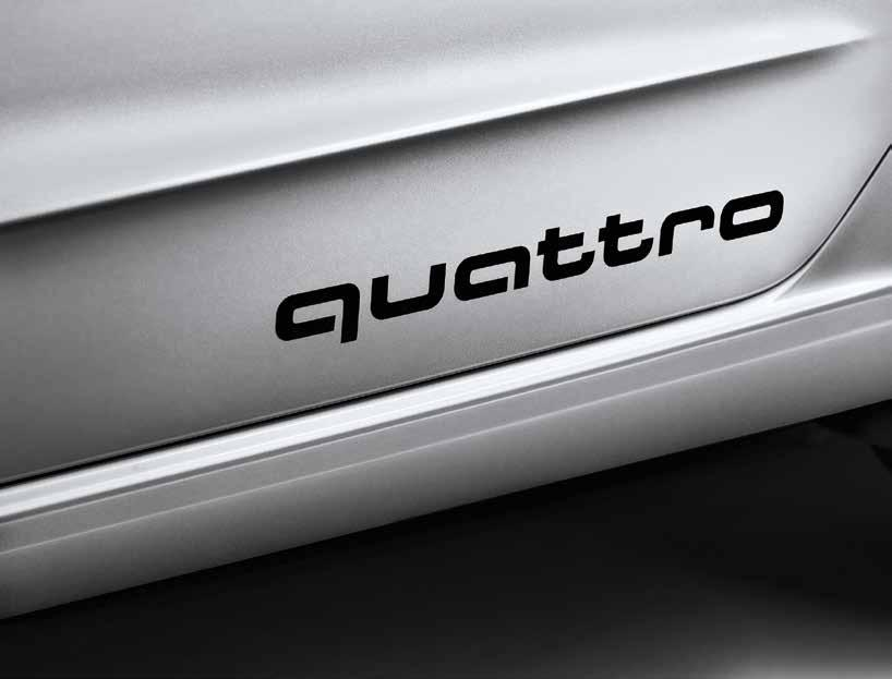 1. quattro decal Boast the renowned Audi all-wheel drive system on your Audi TT with adhesive