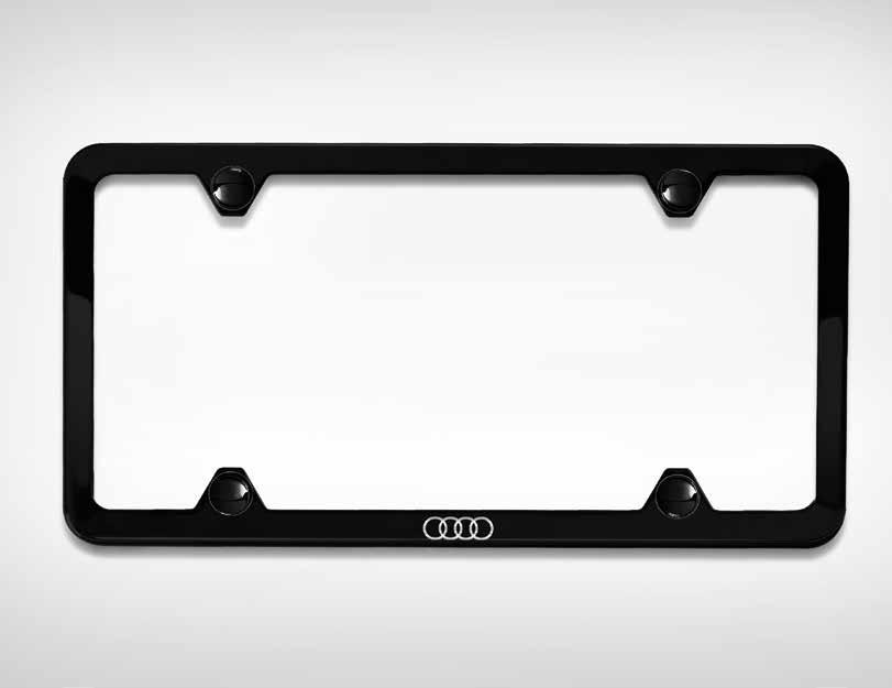Audi Sport license plate frames 1 This attractive frame is constructed of highly durable
