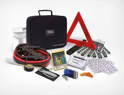 Customer assistance kit To help you be prepared for a wide array of situations you may encounter on the road, this kit includes jumper cables, a warning triangle and much more.