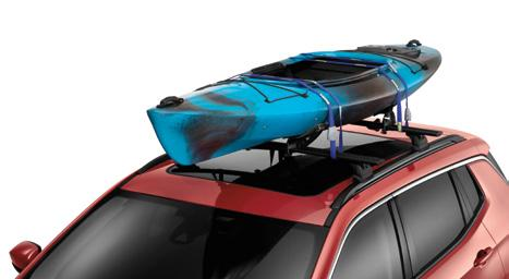 ROOF BARS. ROOF TOP CARGO BASKET. Basket adds valuable cargo space, ROOF-MOUNT SURF AND PADDLE BOARD CARRIER. Carrier (Shown above and on previous page.