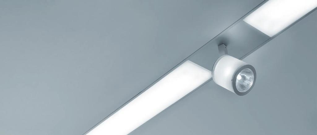 Recessed system TZ-150 For flexible illumination.