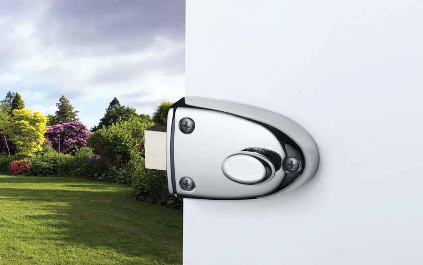 213 Streamlock Deadbolt General purpose deadbolt. Features and Specifications Locked or unlocked by key outside and by turn knob inside Open Out Strike Part Number SP201-67SC.